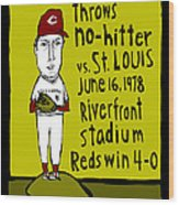 Tom Seaver Cincinnati Reds Wood Print by Jay Perkins
