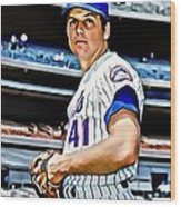 Tom Seaver Wood Print