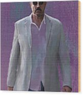 Tom Selleck Wood Print