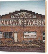 Tomahawk Garage Wood Print