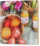 Tomatoes And Peaches Wood Print
