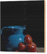 Tomatoes And Pitcher Wood Print