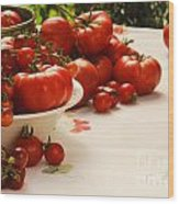 Tomatoes Tomatoes Wood Print