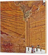 Tomb 67 In Petra-jordan Wood Print