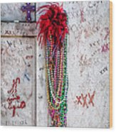 Tomb Of Marie Laveau New Orleans Wood Print