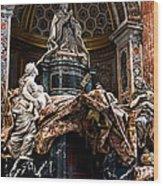 Tomb Of Pope Alexander Vii By Bernini Wood Print