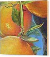 Tombee d Oranges Wood Print