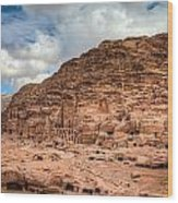 Tombs Of Petra Wood Print