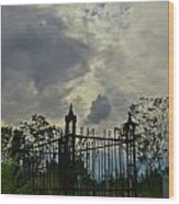 Tombstone Picture Perfect Halloween Image Wood Print