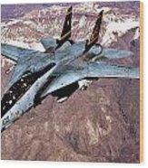 Tomcat Over Iraq Wood Print