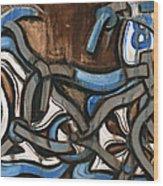 Old school Bmx Racing Bike Art Print Wood Print
