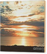 Tomorrow Is A New Day- Beach At Sunset Wood Print by Artist and Photographer Laura Wrede