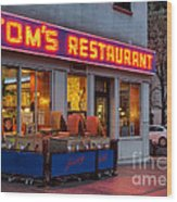 Tom's Restaurant Wood Print
