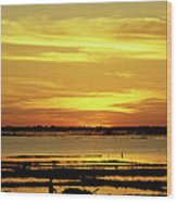 Tonle Sap Sunrise 02 Wood Print