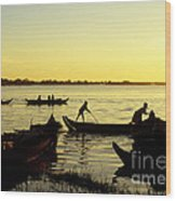 Tonle Sap Sunrise 05 Wood Print