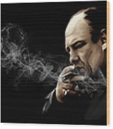 Tony Soprano Wood Print