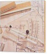 Tools Of The Trade Wood Print by Jon Neidert