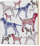 Top Dogs Wood Print