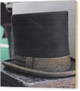 Top Hat Wood Print