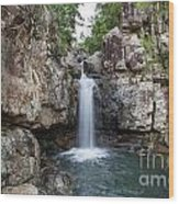 Top Of Cidar Falls Wood Print