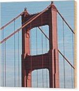 Top Of Golden Gate Bridge Wood Print