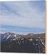 Top Of Independence Pass Panorama Wood Print