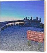 Top Of Mount Mitchell After Sunset Wood Print