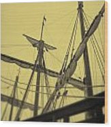 Top Of Old Ship Wood Print