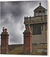 Top Of Point Fermin Lighthouse Wood Print
