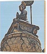 Top Of Stone Pillar In Bhaktapur Durbar Square In Bhaktapur-nepal Wood Print
