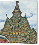 Top Of Temple In Wat Po In Bangkok-thailand Wood Print