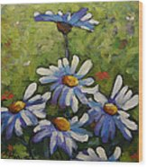 Top Of The Bunch Daisies By Prankearts Wood Print