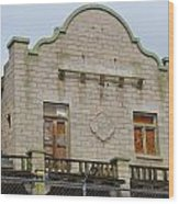 Top Of The Rhyolite Train Depot Wood Print