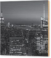 Top Of The Rock Twilight V Wood Print