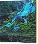 Top Part Of Clearwater Falls Wood Print