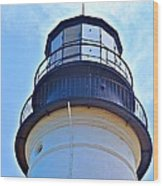 Top View Of Portland Head Light Wood Print