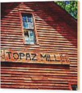 Topaz Wood Print by Marty Koch