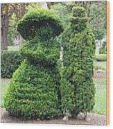Topiary Couple Wood Print