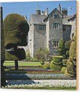 Topiary Garden Wood Print
