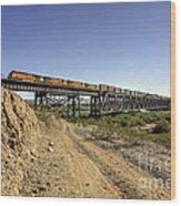 Topock Bridge Freight Wood Print