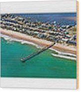 Topsail Island Aerial Panels Wood Print
