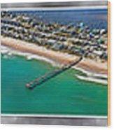 Topsail Island Aerial Panels II Wood Print