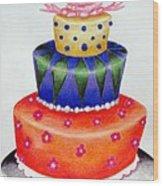 Topsy Turvy Cake Wood Print