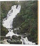 Torc Falls Ireland Wood Print