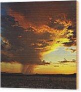 Tornado Of Fire Wood Print