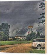 Tornado Over Madison 3 Wood Print