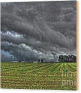 Tornado Over Madison 5 Wood Print
