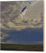 Tornado Warned Denver Supercell Wood Print