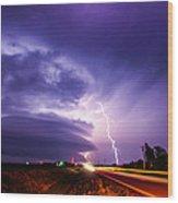 Tornado Warning In Northern Buffalo County Wood Print