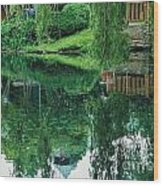 Reflections On Toronto Island Wood Print